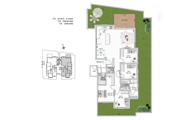 C1 תכנית דירה פרויקט קדמה כפר ורדים