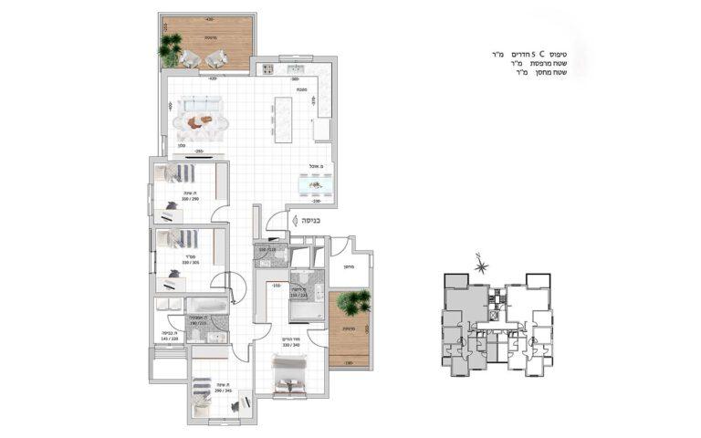 C6 תכנית דירה פרויקט קדמה כפר ורדים
