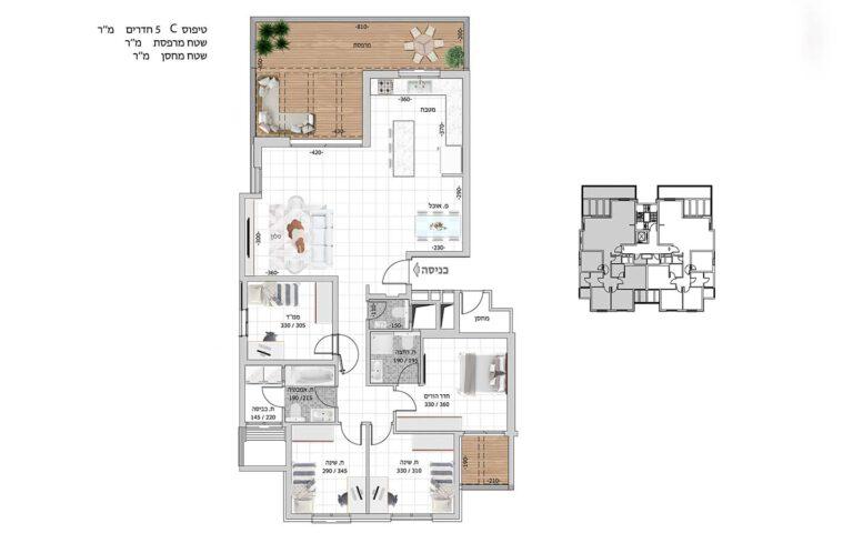 C7 תכנית דירה פרויקט קדמה כפר ורדים