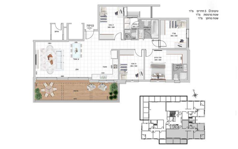 D13 תכנית דירה פרויקט קדמה כפר ורדים