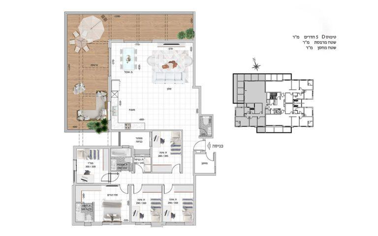 D15 תכנית דירה פרויקט קדמה כפר ורדים