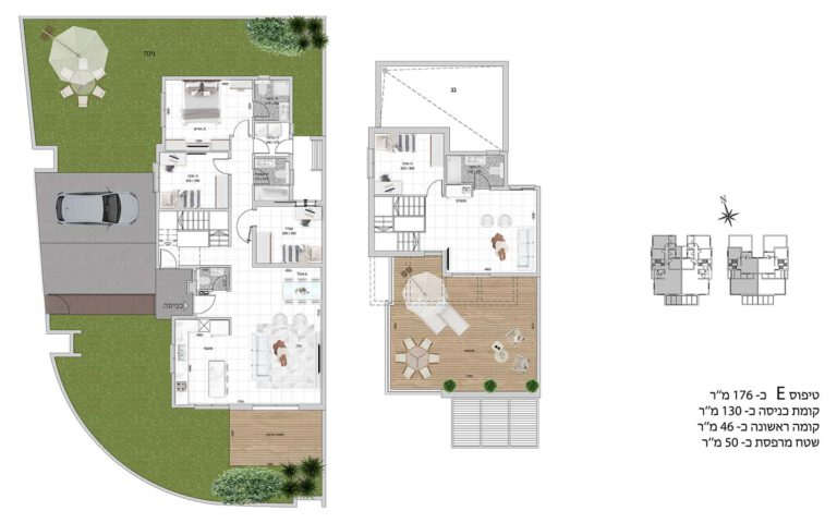 E1 תכנית דירה פרויקט קדמה כפר ורדים