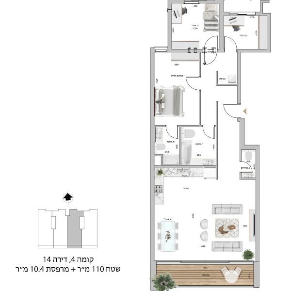 קומה 4 דירה 14