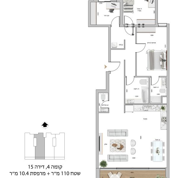קומה 4 דירה 15