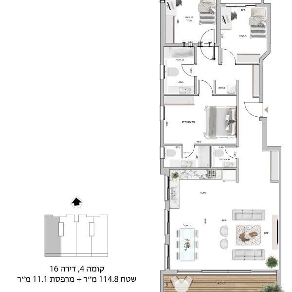קומה 4 דירה 16