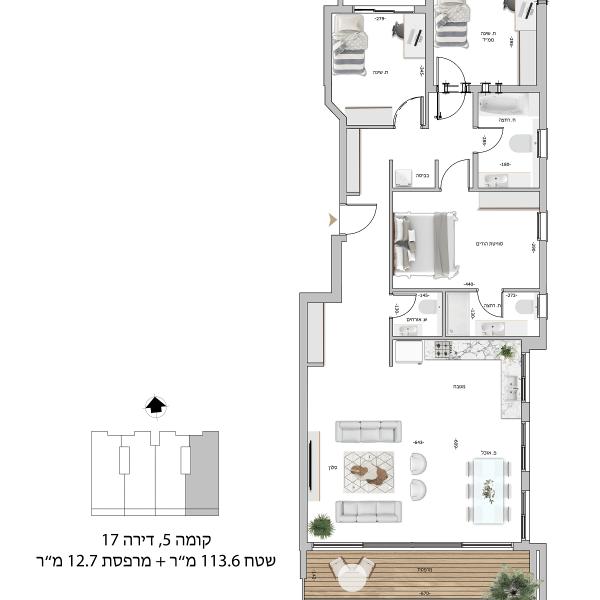קומה 5 דירה 17
