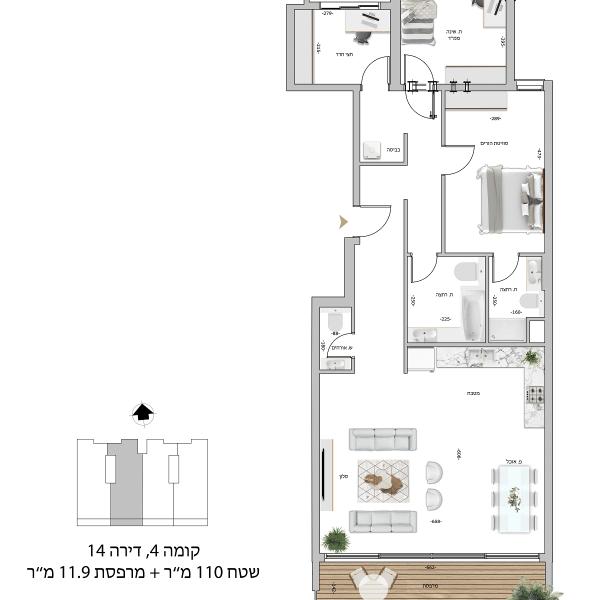 קומה 5 דירה 19
