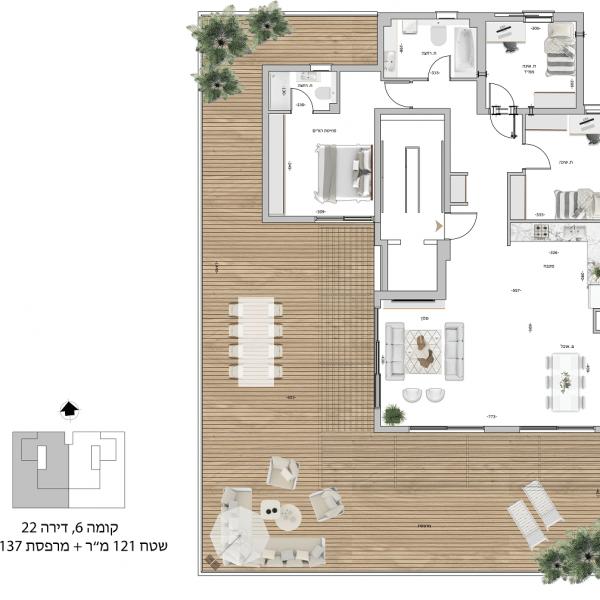 קומה 6 דירה 22